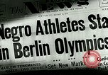 Image of Negro athletes in the Olympics Berlin Germany, 1936, second 4 stock footage video 65675077353