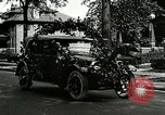 Image of decorated automobiles for Presidential campaign rally United States USA, 1916, second 2 stock footage video 65675077365