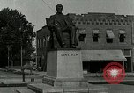 Image of Hodgenville statue of Abraham Lincoln Hodgenville Kentucky USA, 1916, second 8 stock footage video 65675077371
