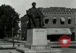 Image of Hodgenville statue of Abraham Lincoln Hodgenville Kentucky USA, 1916, second 10 stock footage video 65675077371