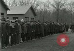 Image of World War I US Navy recruits in civilian clothing begin training  Great Lakes Illinois USA, 1917, second 3 stock footage video 65675077382