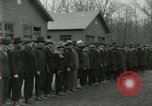 Image of World War I US Navy recruits in civilian clothing begin training  Great Lakes Illinois USA, 1917, second 8 stock footage video 65675077382