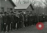 Image of World War I US Navy recruits in civilian clothing begin training  Great Lakes Illinois USA, 1917, second 10 stock footage video 65675077382