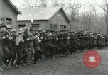 Image of World War I US Navy recruits in civilian clothing begin training  Great Lakes Illinois USA, 1917, second 11 stock footage video 65675077382