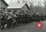 Image of World War I US Navy recruits in civilian clothing begin training  Great Lakes Illinois USA, 1917, second 12 stock footage video 65675077382