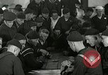 Image of US Navy sailors playing cards Great Lakes Illinois USA, 1917, second 1 stock footage video 65675077390