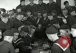 Image of US Navy sailors playing cards Great Lakes Illinois USA, 1917, second 9 stock footage video 65675077390