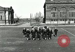 Image of US Navy sailors drill with howitzer Great Lakes Illinois USA, 1917, second 2 stock footage video 65675077397
