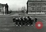 Image of US Navy sailors drill with howitzer Great Lakes Illinois USA, 1917, second 4 stock footage video 65675077397