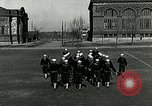 Image of US Navy sailors drill with howitzer Great Lakes Illinois USA, 1917, second 5 stock footage video 65675077397