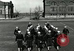 Image of US Navy sailors drill with howitzer Great Lakes Illinois USA, 1917, second 8 stock footage video 65675077397