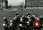 Image of US Navy sailors drill with howitzer Great Lakes Illinois USA, 1917, second 10 stock footage video 65675077397