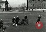 Image of US Navy sailors drill with howitzer Great Lakes Illinois USA, 1917, second 12 stock footage video 65675077397