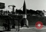 Image of German A-4 missile Peenemunde Germany, 1943, second 12 stock footage video 65675077612