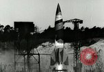 Image of German A-4 missile Peenemunde Germany, 1944, second 5 stock footage video 65675077620