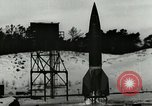 Image of German A-4 missile near accident upon launch Peenemunde Germany, 1944, second 3 stock footage video 65675077633