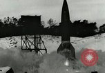 Image of German A-4 missile near accident upon launch Peenemunde Germany, 1944, second 4 stock footage video 65675077633