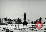 Image of V-2 rocket losing thrust and crashing Peenemunde Germany, 1944, second 2 stock footage video 65675077636