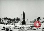 Image of V-2 rocket losing thrust and crashing Peenemunde Germany, 1944, second 4 stock footage video 65675077636