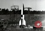 Image of German A-4 missile Peenemunde Germany, 1944, second 2 stock footage video 65675077660