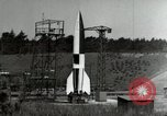 Image of German A-4 missile Peenemunde Germany, 1944, second 5 stock footage video 65675077660