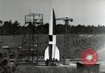Image of German A-4 missile Peenemunde Germany, 1944, second 8 stock footage video 65675077660