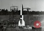 Image of German A-4 missile Peenemunde Germany, 1944, second 9 stock footage video 65675077660