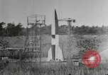 Image of German A-4 missile Peenemunde Germany, 1944, second 6 stock footage video 65675077663