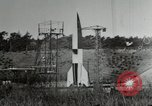 Image of German A-4 missile Peenemunde Germany, 1944, second 12 stock footage video 65675077663