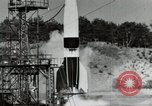 Image of German A-4 missile Peenemunde Germany, 1944, second 9 stock footage video 65675077664