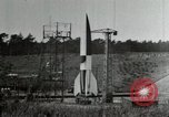 Image of German A-4 missile Peenemunde Germany, 1944, second 8 stock footage video 65675077666