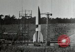 Image of German A-4 missile Peenemunde Germany, 1944, second 9 stock footage video 65675077666