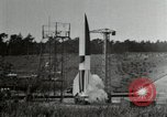 Image of German A-4 missile Peenemunde Germany, 1944, second 12 stock footage video 65675077666