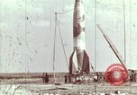 Image of German V-2 rocket Peenemunde Germany, 1944, second 1 stock footage video 65675077676