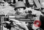 Image of machine gun Solomon Islands, 1945, second 12 stock footage video 65675077698