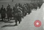 Image of German soldiers on American side of Elbe River at end of World War 2 Tangermunde Germany, 1945, second 1 stock footage video 65675077888