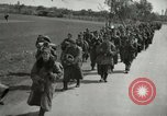 Image of German soldiers on American side of Elbe River at end of World War 2 Tangermunde Germany, 1945, second 5 stock footage video 65675077888
