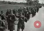 Image of German soldiers on American side of Elbe River at end of World War 2 Tangermunde Germany, 1945, second 8 stock footage video 65675077888
