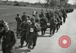 Image of German soldiers on American side of Elbe River at end of World War 2 Tangermunde Germany, 1945, second 10 stock footage video 65675077888
