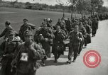 Image of German soldiers on American side of Elbe River at end of World War 2 Tangermunde Germany, 1945, second 11 stock footage video 65675077888