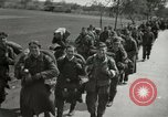 Image of German soldiers on American side of Elbe River at end of World War 2 Tangermunde Germany, 1945, second 12 stock footage video 65675077888