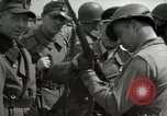 Image of German soldiers surrender at Tangermunde Tangermunde Germany, 1945, second 4 stock footage video 65675077889