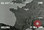 Image of aerial bombing Orleans France, 1944, second 8 stock footage video 65675077898