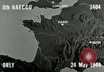 Image of bombing an airfield Orly France, 1944, second 1 stock footage video 65675077899