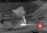 Image of A-4 missile misfires Peenemunde Germany, 1943, second 11 stock footage video 65675077962