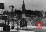 Image of German A-4 missile launched in winter Peenemunde Germany, 1942, second 1 stock footage video 65675077975
