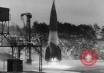 Image of German A-4 missile launched in winter Peenemunde Germany, 1942, second 6 stock footage video 65675077975