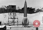Image of German A-4 missile Peenemunde Germany, 1942, second 1 stock footage video 65675078004