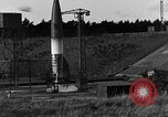 Image of unstable camera closeup of German A-4 missile launch Peenemunde Germany, 1942, second 4 stock footage video 65675078011