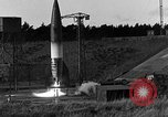 Image of unstable camera closeup of German A-4 missile launch Peenemunde Germany, 1942, second 5 stock footage video 65675078011